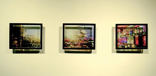"Transparent prints from Rita Jimenez's 'Kaleidoscopic Consciousness."""