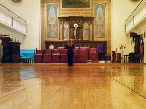 The sanctuary of Saint John the Baptist Lutheran Church, Hoboken, NJ