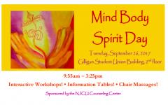 Mind, Body, Spirit Day