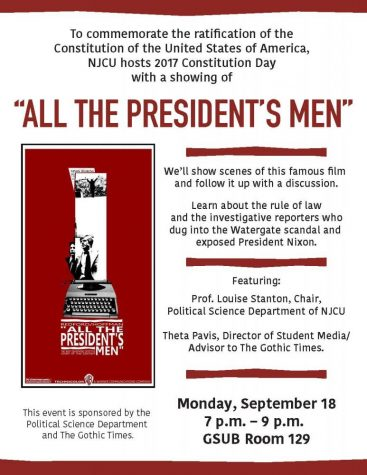 "Screening of ""All the President's Men,"" September 18"