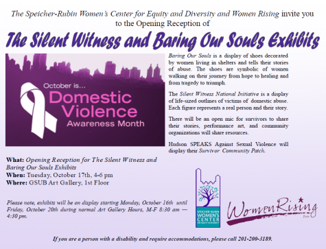 Opening Reception for Domestic Violence Month, Oct. 17